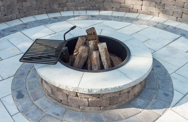 Fire Pit with Cooking Grate