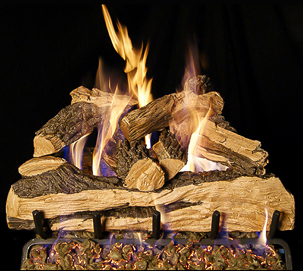Split Oak Designer Plus Gas Logs