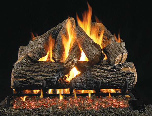 Real Fyre Charred Oak Log Set