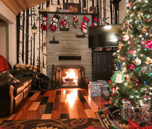 Cozy Woodsy Christmas Hearth