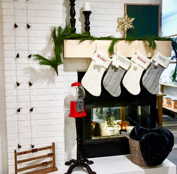 Monochromatic Christmas Mantel