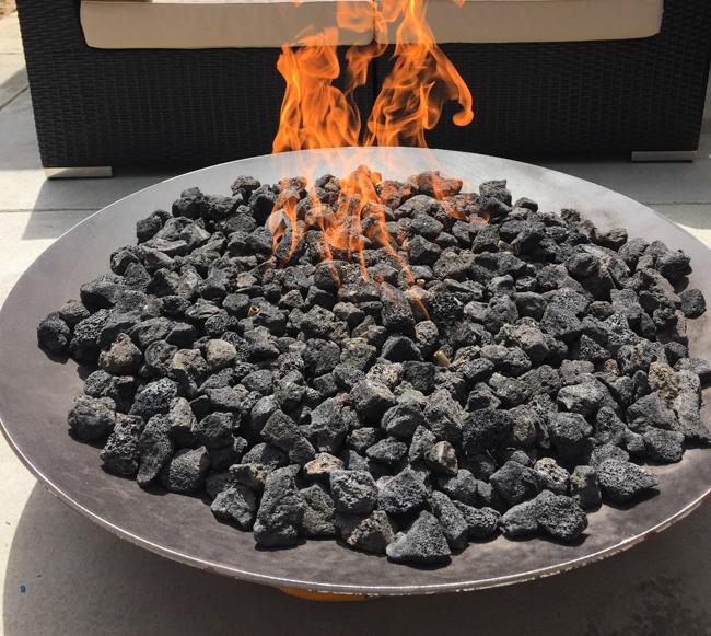 Lava rock in Gas Fire Pit
