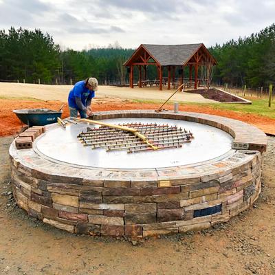 Round Custom Fire Pit