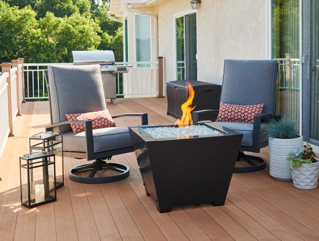 Can I put a fire pit on my wood deck? | Woodlanddirect.com