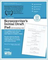 Screenwriter's initial draft pad - gifts for writers