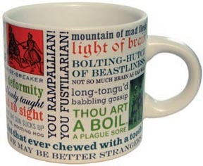 Shakespeare Mugs - gifts for writers