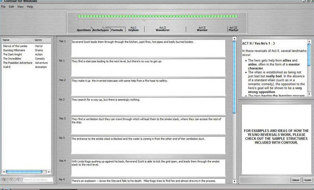 Contour Is A Proven Story Development Writing Software That Streamlines The Process Of Turning Your Movie Ideas From First Glimmer To Full Outline