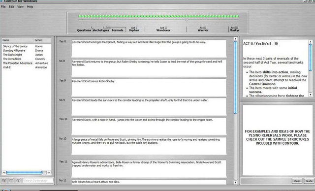 contour software story development story writing software