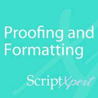 Proofing and formatting - Scriptxpert