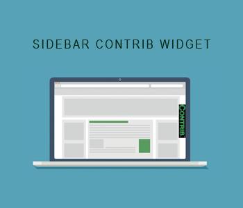 Sidebar Contrib Widget