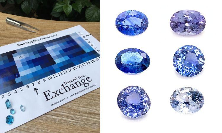 Blue Sapphire Color Cards