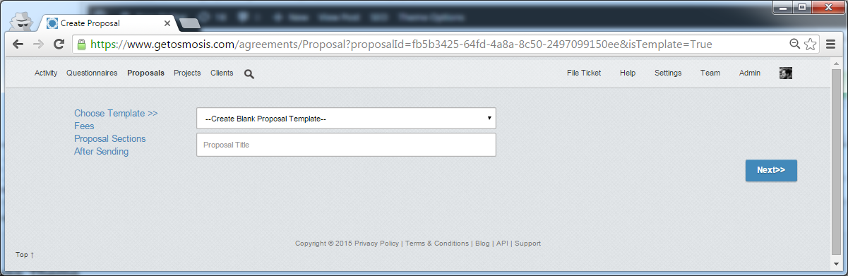Creating A Template Proposal