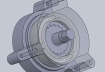 Prototype of a printable fluidic stepper motor