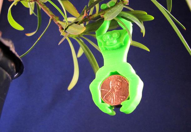 Bonsai_Gibbon: A gibbon-shaped weight for bonsai bending.