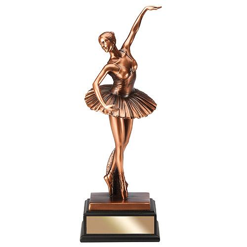 12-3/4 in Sculpted Ballerina Resin