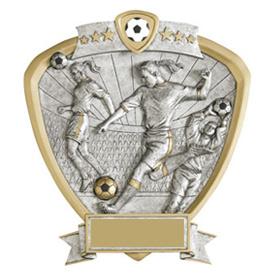 Female Soccer Resin Shield