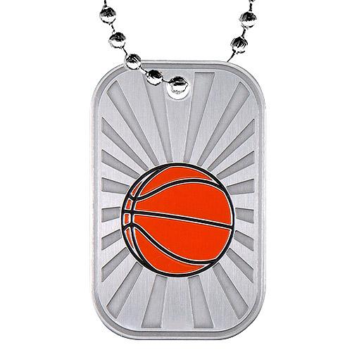 2 in Basketball Dog Tag w/ Chain