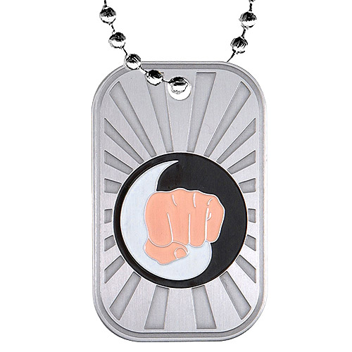 2 in Karate Dog Tag w/ Chain
