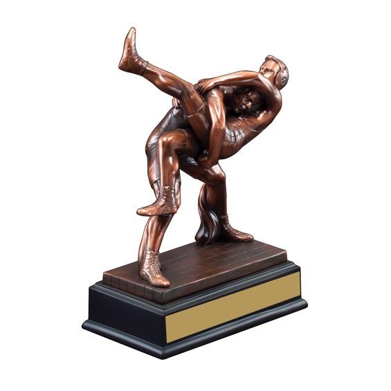 10 in Sculptured Wrestling Trophy