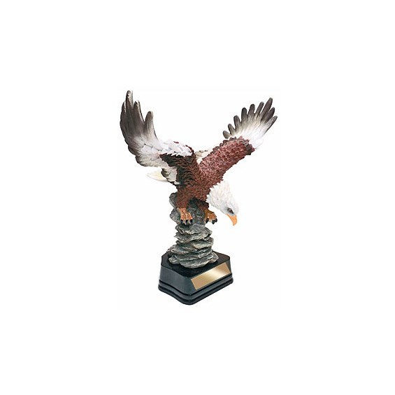 11 in Hand Painted Eagle Resin