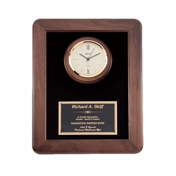 12 in x 15 in Genuine Walnut Clock Plaque