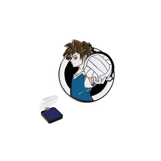 1 in Volleyball Sports Pin