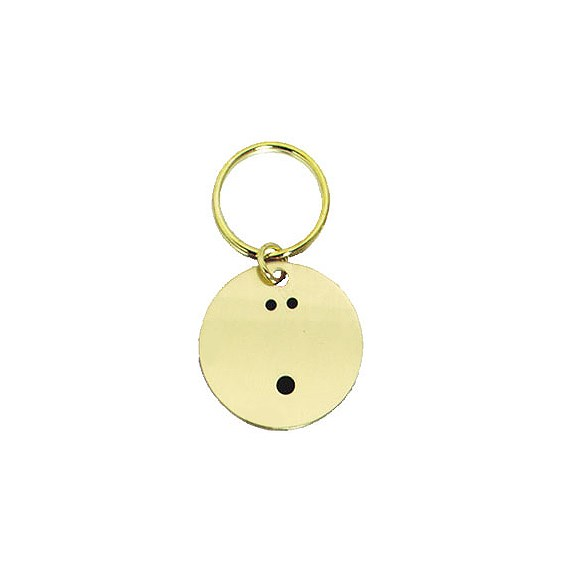1.5 in Polished Brass Keychain - Bowling