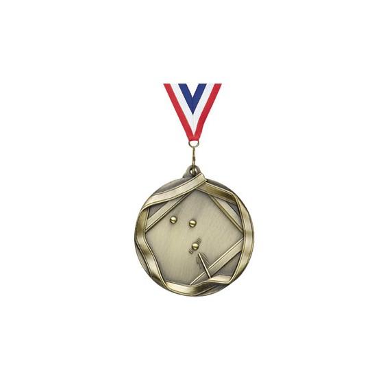 2 1/4 in Ribbon Series Billards Medal