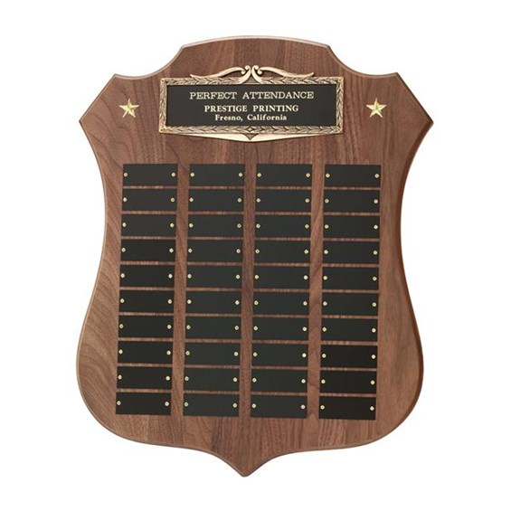 40 Plate Shield Perpetual Plaque