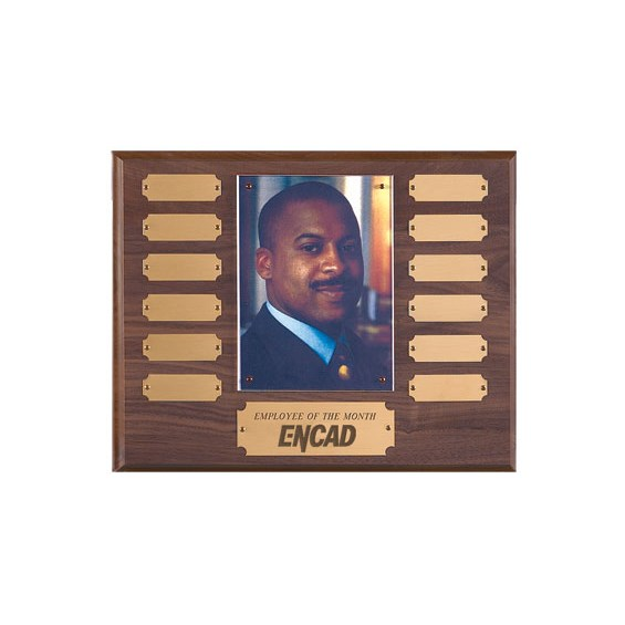 10-1/2 in x 13 in Employee of the Month Plaque