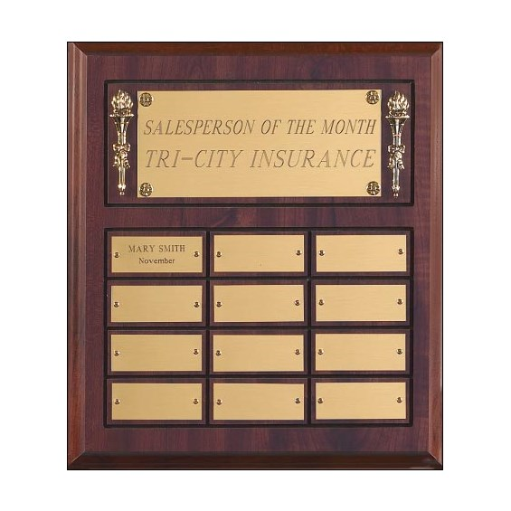 12 in x 12 1/2 in Employee of the Month Plaque