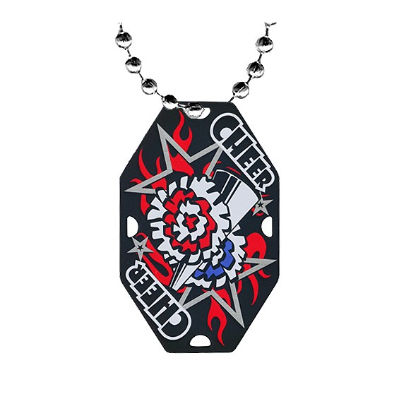 2.5 in Cheerleading Dog Tag w/ Chain