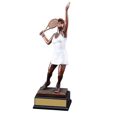17 1/2 in Female Tennis Sculpture Award