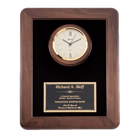 12 in x 15 in Genuine Walnut Clock Plaque