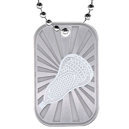 2 in Lacrosse Dog Tag w/ Chain