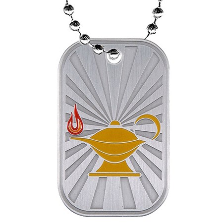 2 in Knowledge Dog Tag w/ Chain