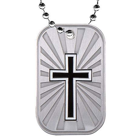 2 in Religion Dog Tag w/ Chain