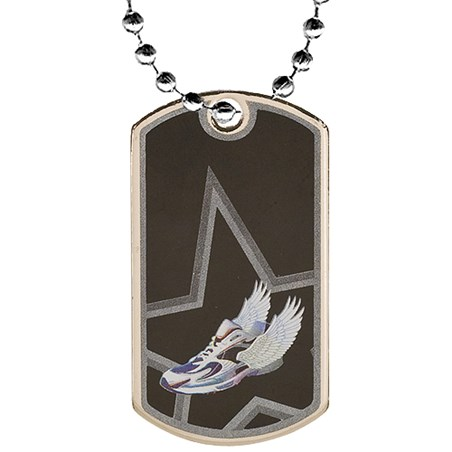 2 in Track Dog Tag w/ 24 in Chain