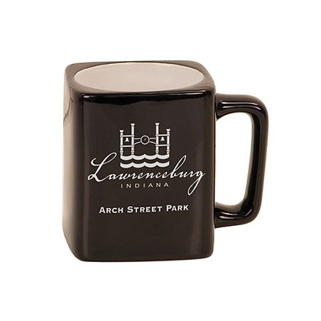 8oz Square Ceramic LaserMug - Black