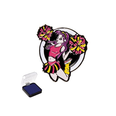 1 in Cheerleader Sports Pin