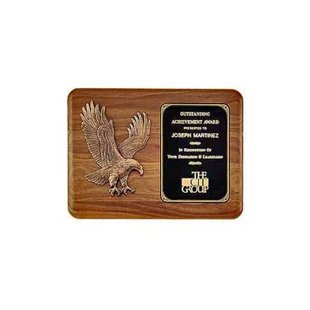 11 in x 15 in American Walnut Eagle Casting Plaque