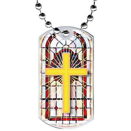 2 in Religion Dog Tag w/ Epoxy Dome Graphics