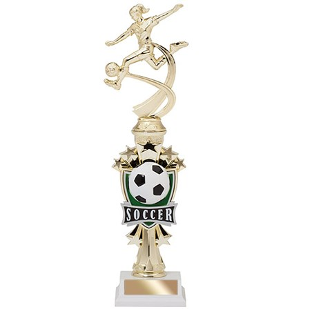 14 in Allstar Female Soccer Trophy