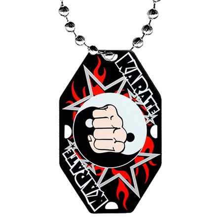 2.5 in Karate Dog Tag w/ Chain