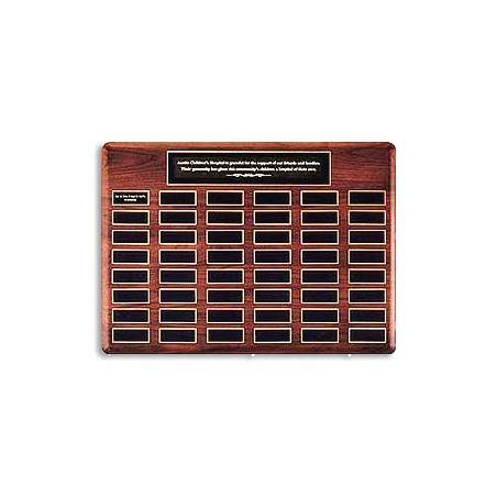 48 Plate Perpetual Plaque with Sold Brass Nameplates