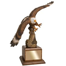 15.5 Hand Painted Eagle Resin Trophy
