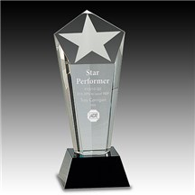 Crystal Frosted Star Column Award