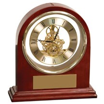 Rosewood Piano Finish Arch Clock