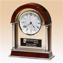 Rosewood Piano Finish Mantle Clock