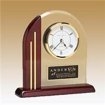 Arch Clock w/ Glass Upright
